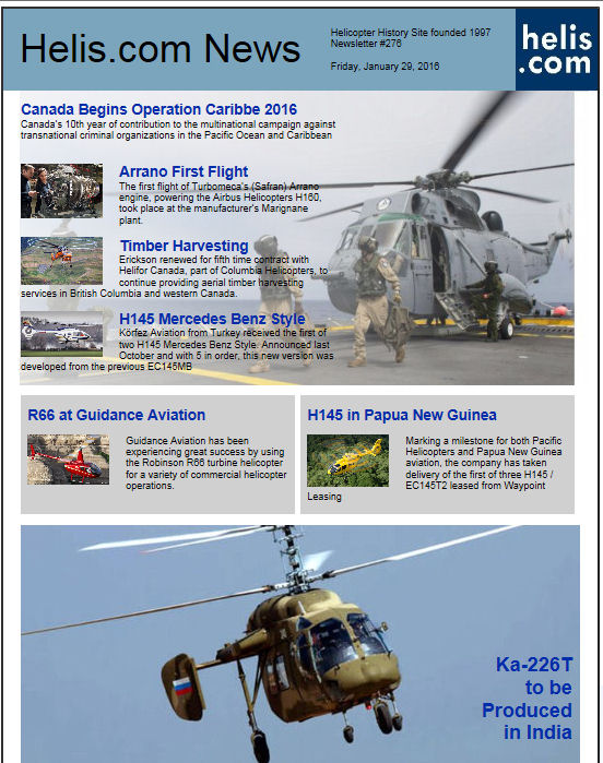 Helicopter News January 29, 2016 by Helis.com