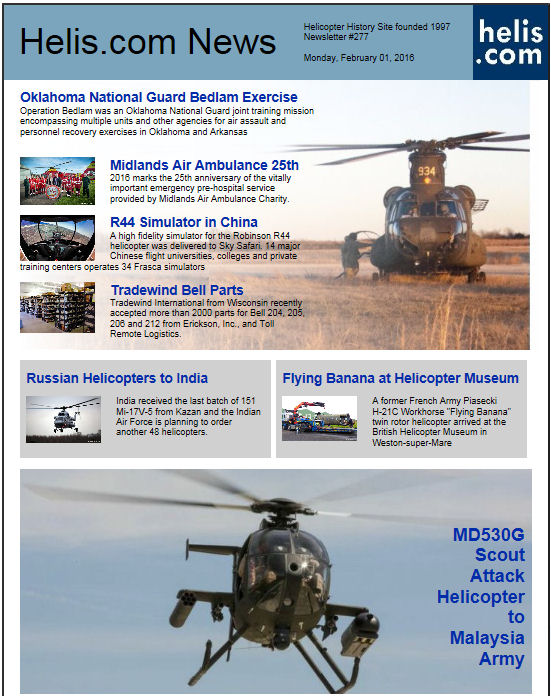 Helicopter News February 01, 2016 by Helis.com