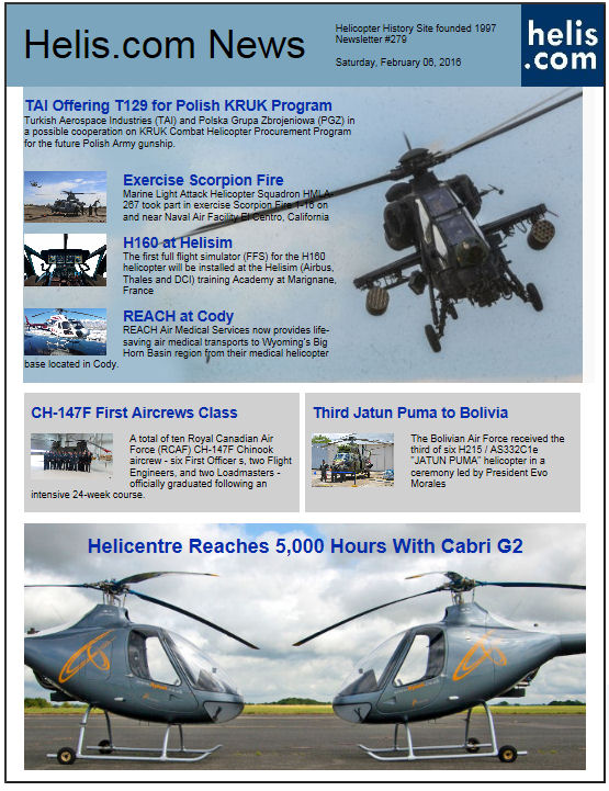 Helicopter News February 06, 2016 by Helis.com