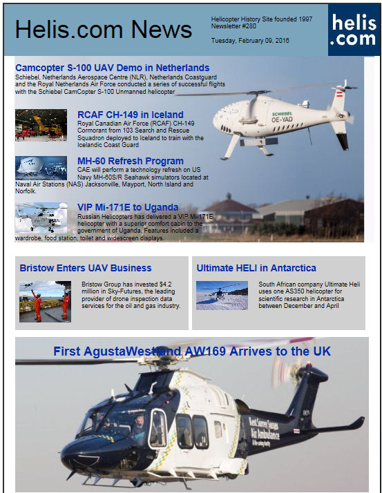 Helicopter News February 09, 2016 by Helis.com