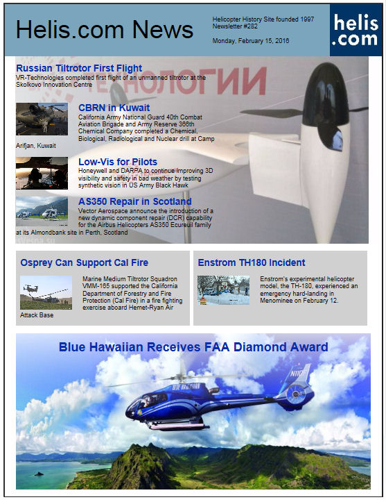 Helicopter News February 15, 2016 by Helis.com