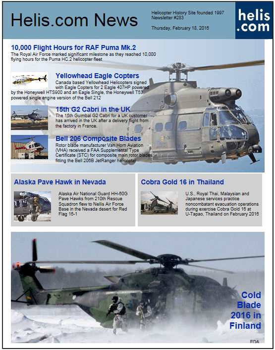 Helicopter News February 18, 2016 by Helis.com