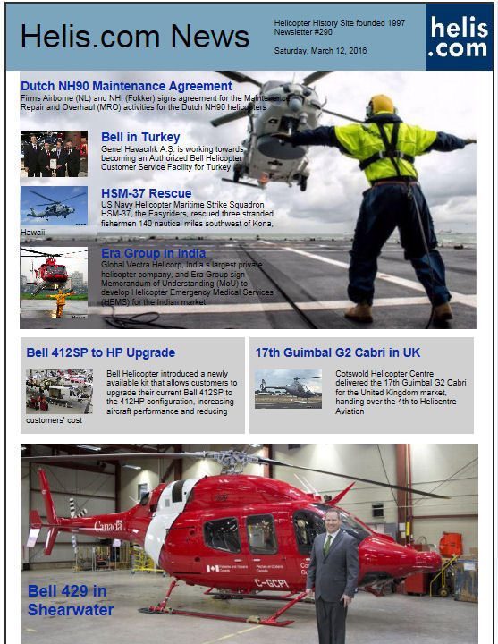 Helicopter News March 12, 2016 by Helis.com