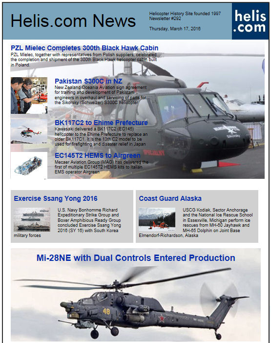 Helicopter News March 17, 2016 by Helis.com