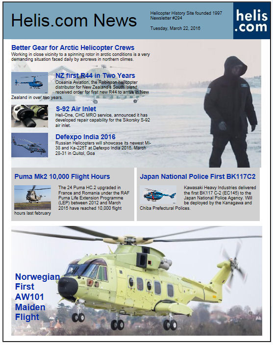 Helicopter News March 22, 2016 by Helis.com