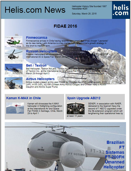 Helicopter News March 26, 2016 by Helis.com