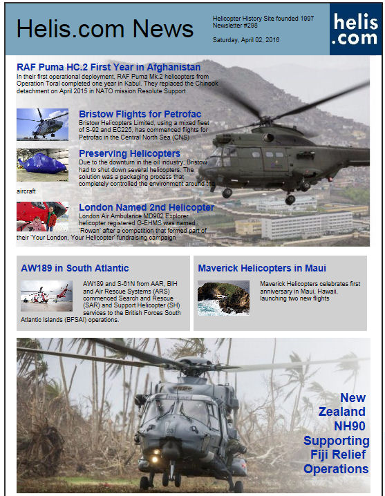 Helicopter News April 02, 2016 by Helis.com