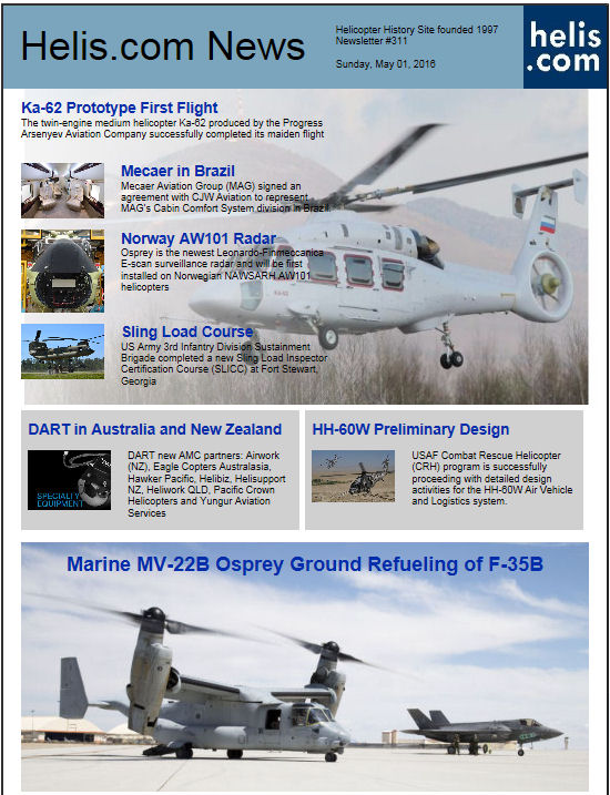 Helicopter News May 01, 2016 by Helis.com