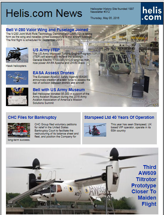 Helicopter News May 05, 2016 by Helis.com