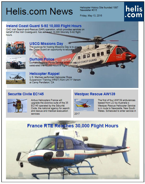 Helicopter News May 13, 2016 by Helis.com