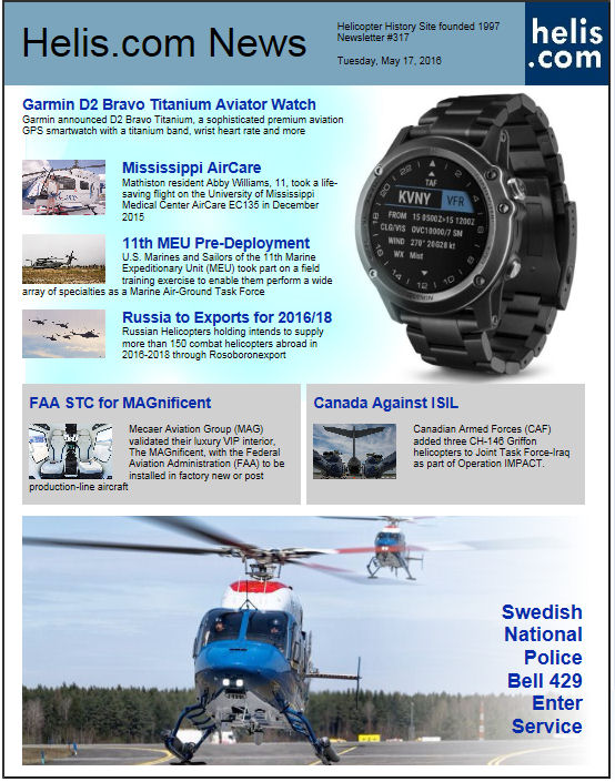Helicopter News May 17, 2016 by Helis.com