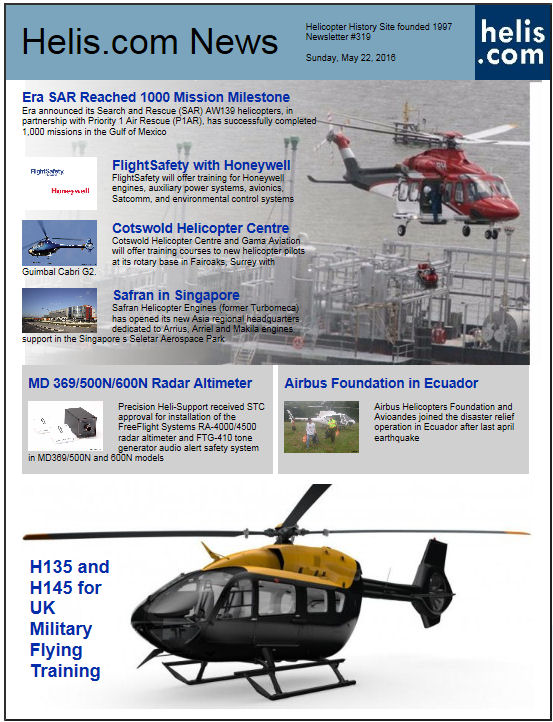 Helicopter News May 22, 2016 by Helis.com