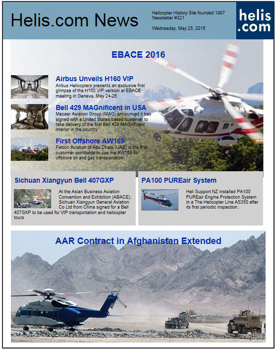 Helicopter News May 25, 2016 by Helis.com
