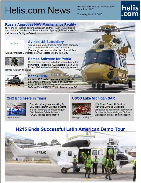Helicopter News May 26, 2016 by Helis.com