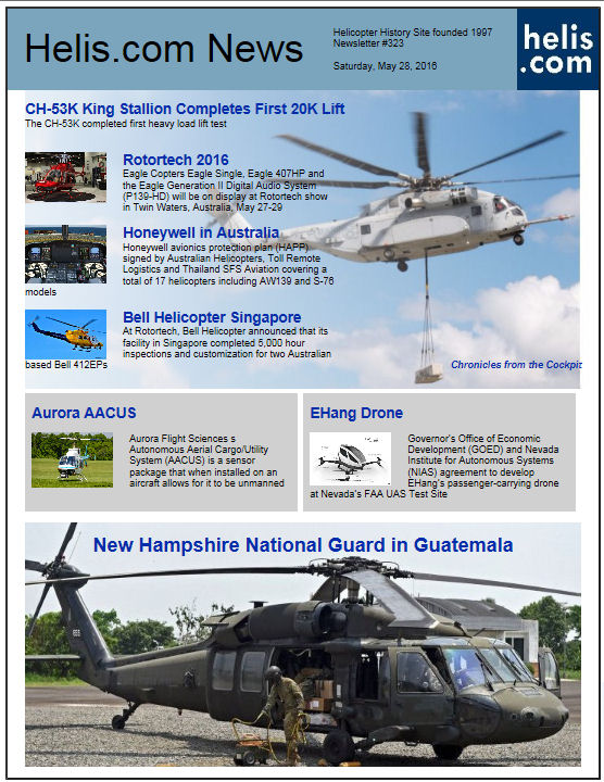 Helicopter News May 28, 2016 by Helis.com