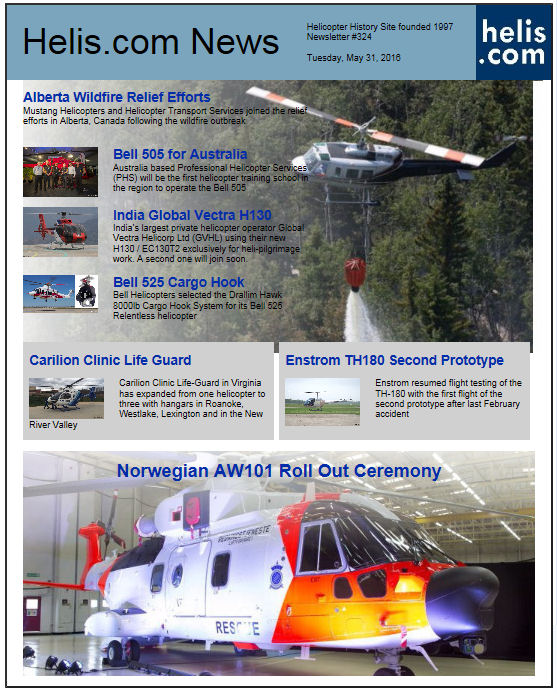 Helicopter News May 31, 2016 by Helis.com