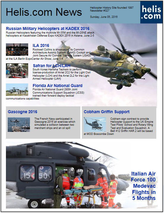 Helicopter News June 05, 2016 by Helis.com