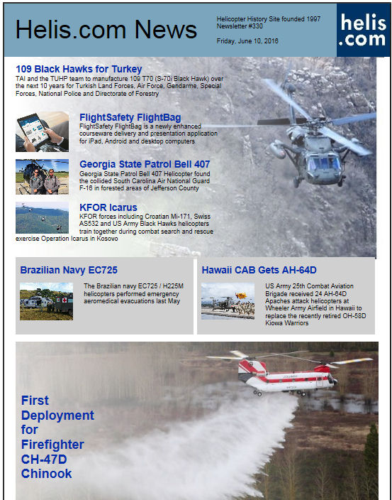 Helicopter News June 10, 2016 by Helis.com