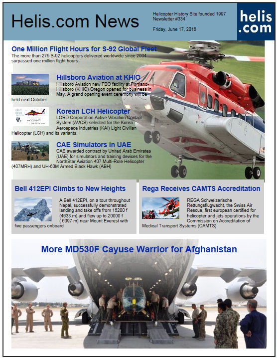 Helicopter News June 17, 2016 by Helis.com