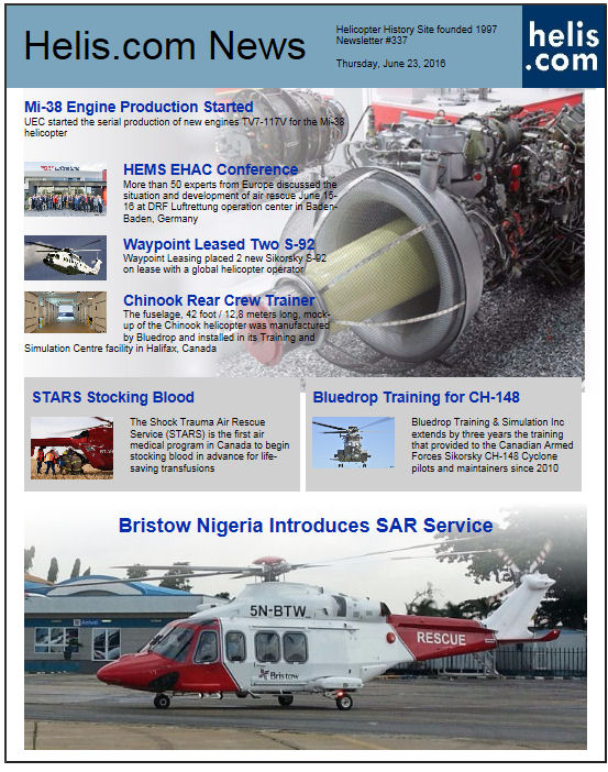 Helicopter News June 23, 2016 by Helis.com