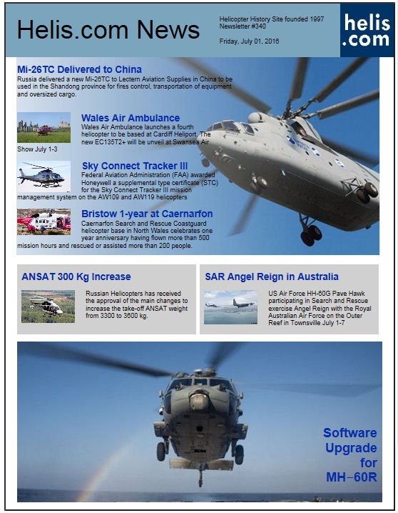 Helicopter News July 01, 2016 by Helis.com