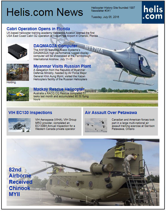 Helicopter News July 05, 2016 by Helis.com