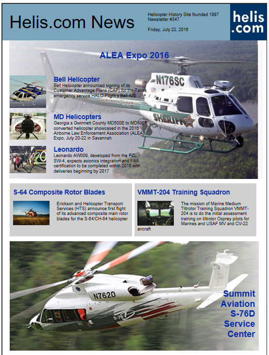 Helicopter News July 22, 2016 by Helis.com