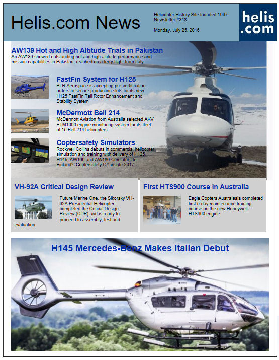 Helicopter News July 25, 2016 by Helis.com