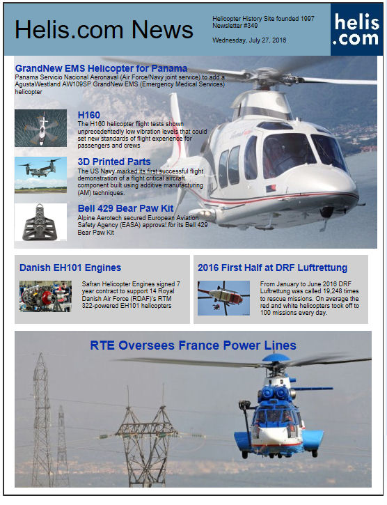 Helicopter News July 27, 2016 by Helis.com