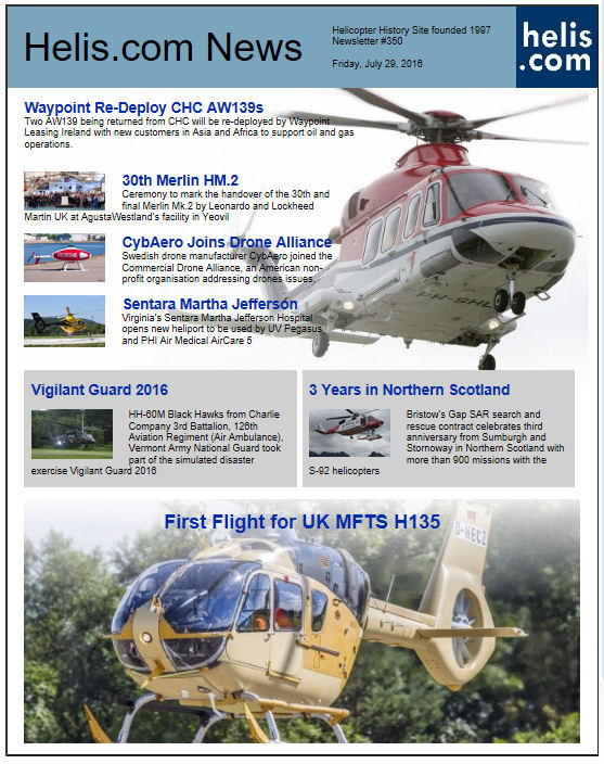 Helicopter News July 29, 2016 by Helis.com