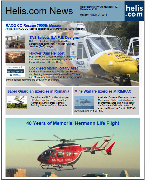 Helicopter News August 01, 2016 by Helis.com
