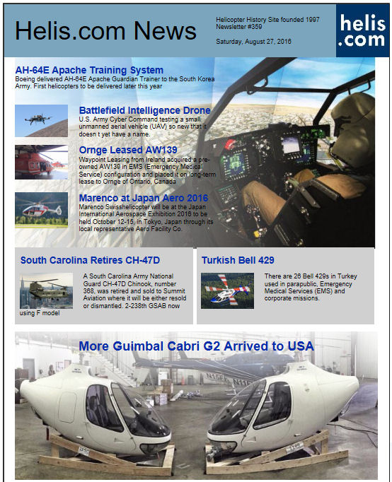Helicopter News August 27, 2016 by Helis.com