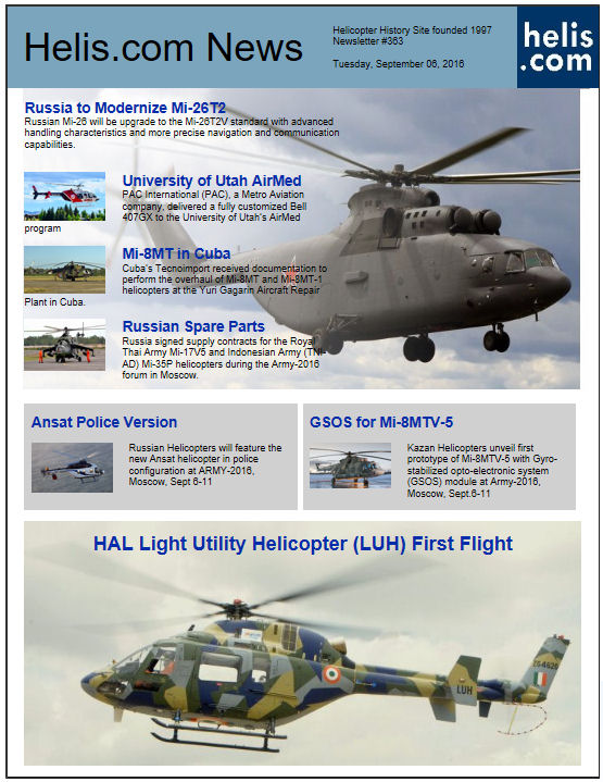 Helicopter News September 06, 2016 by Helis.com
