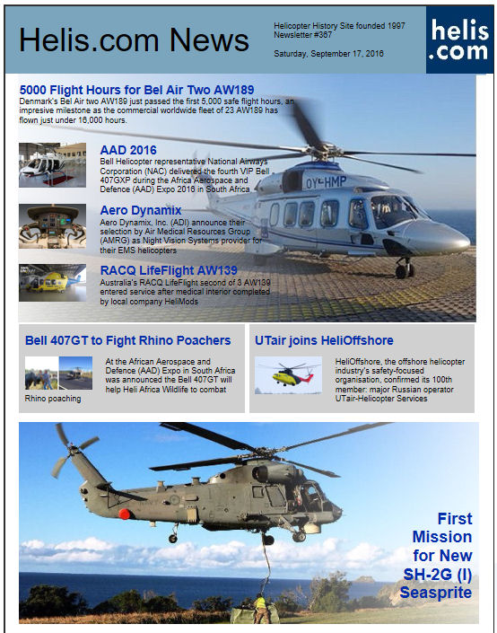 Helicopter News September 17, 2016 by Helis.com