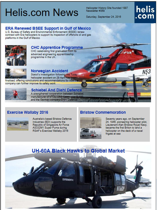 Helicopter News September 24, 2016 by Helis.com