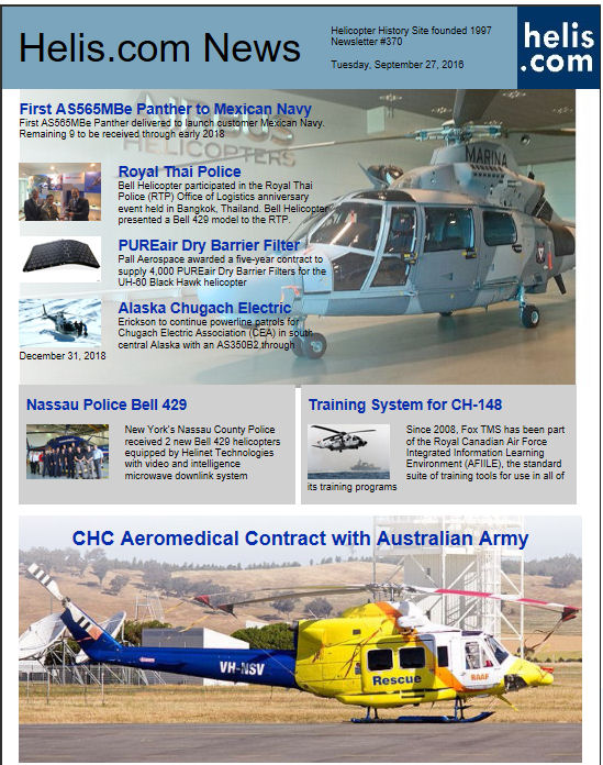 Helicopter News September 27, 2016 by Helis.com
