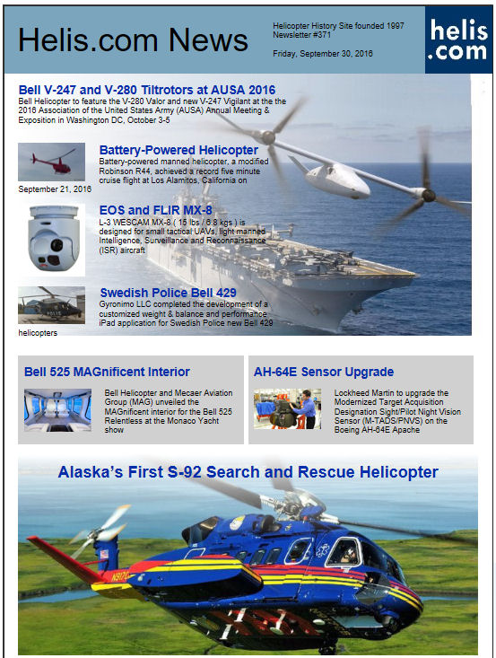 Helicopter News September 30, 2016 by Helis.com