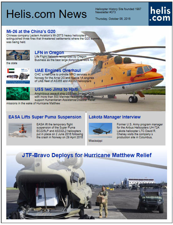 Helicopter News October 06, 2016 by Helis.com
