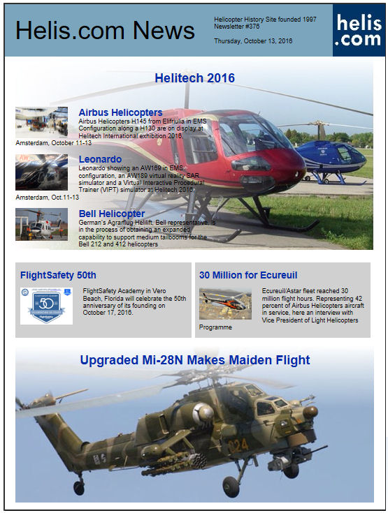 Helicopter News October 13, 2016 by Helis.com