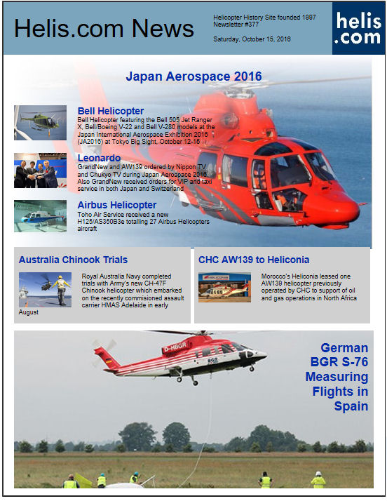 Helicopter News October 15, 2016 by Helis.com