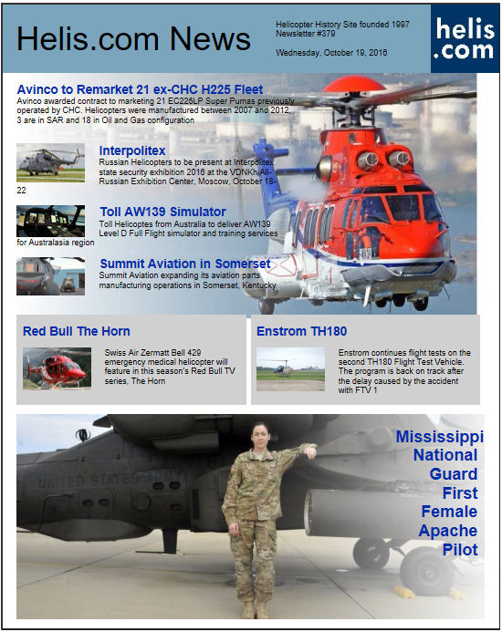 Helicopter News October 19, 2016 by Helis.com