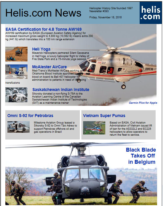 Helicopter News November 18, 2016 by Helis.com