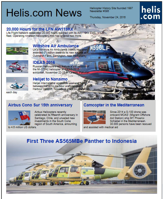 Helicopter News November 24, 2016 by Helis.com