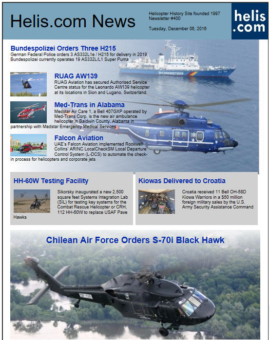 Helicopter News December 06, 2016 by Helis.com