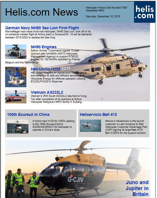 Helicopter News December 10, 2016 by Helis.com