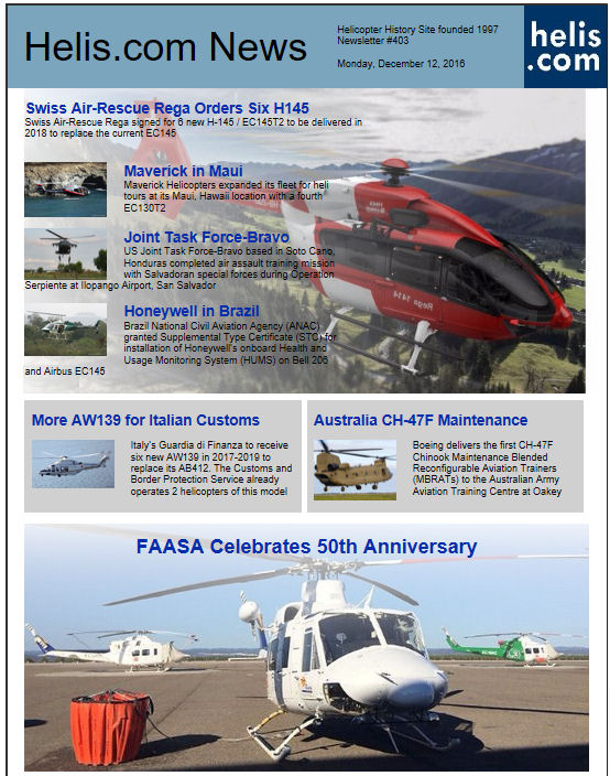 Helicopter News December 12, 2016 by Helis.com