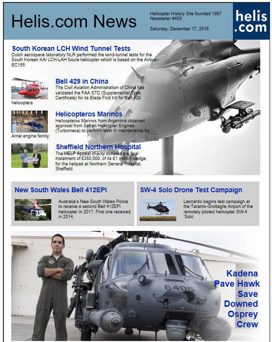 Helicopter News December 17, 2016 by Helis.com