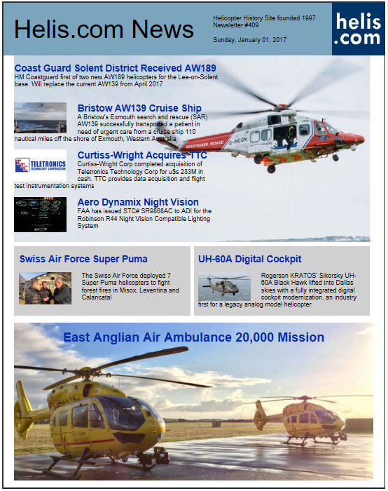 Helicopter News January 01, 2017 by Helis.com