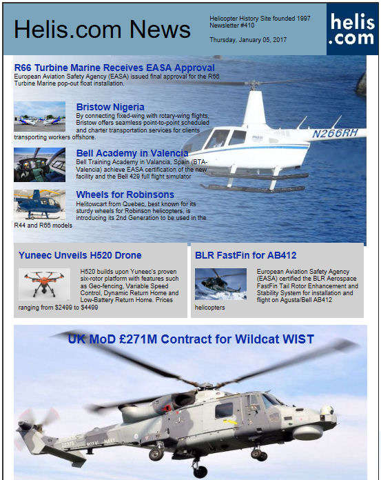 Helicopter News January 05, 2017 by Helis.com
