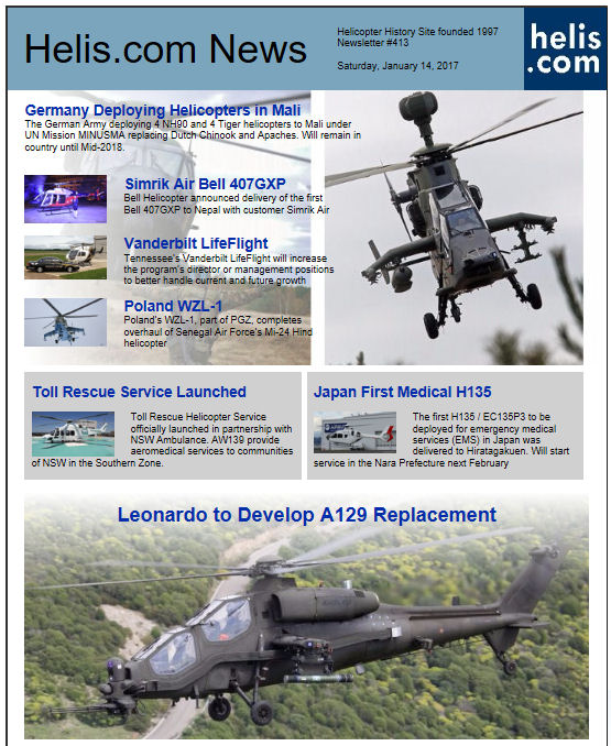 Helicopter News January 14, 2017 by Helis.com